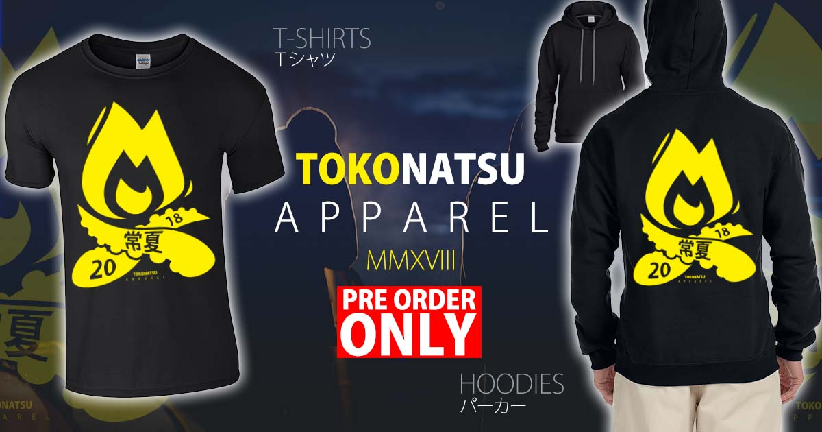 Pre-order your Tokonatsu T-shirt and Hoodies for 2018