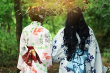 Kimono's in the Forest
